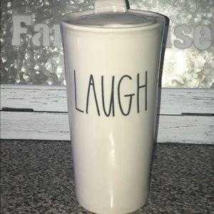 Rae Dunn LAUGH Travel Mug